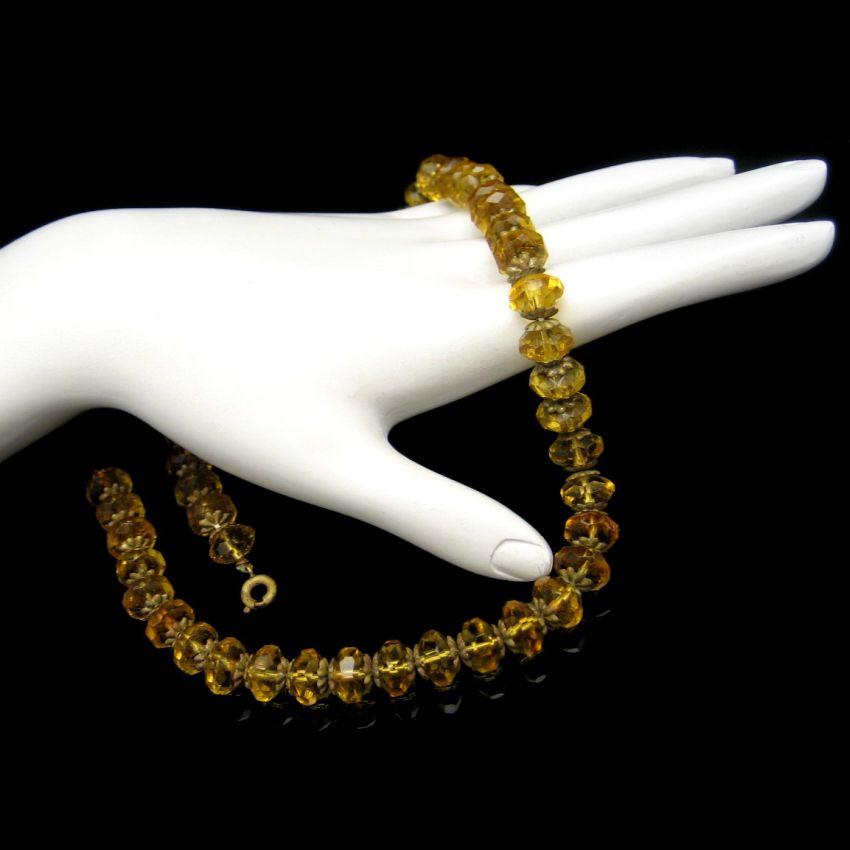 Czech crystal necklace vintage glass