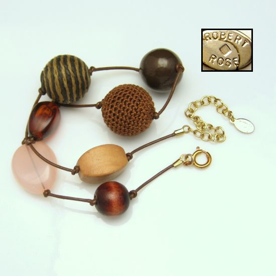 Cork Beads: Chunky Designer Large Beads Mixed Variety Brown Pink Cork
