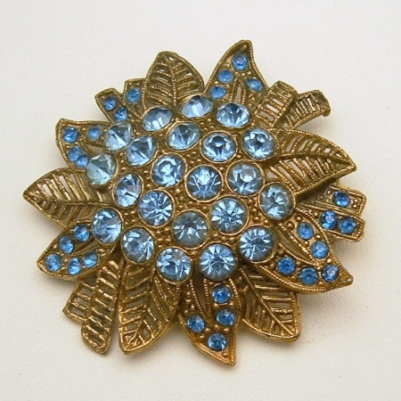 Little Nemo Blue Rhinestone Brooch