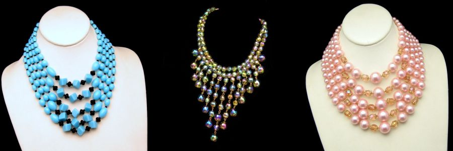 Click to view 1960s Vintage Beads Necklaces