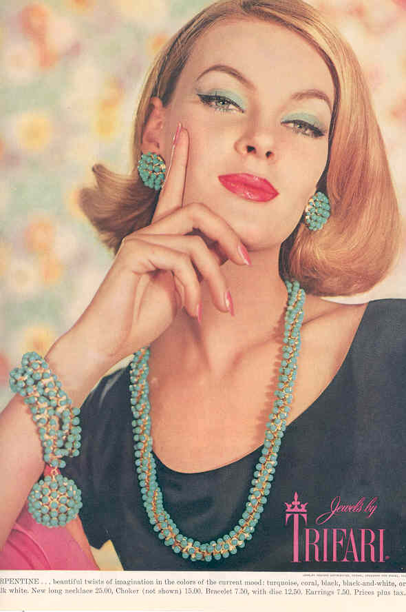 Trifari Vintage Jewelry Serpentine Ad