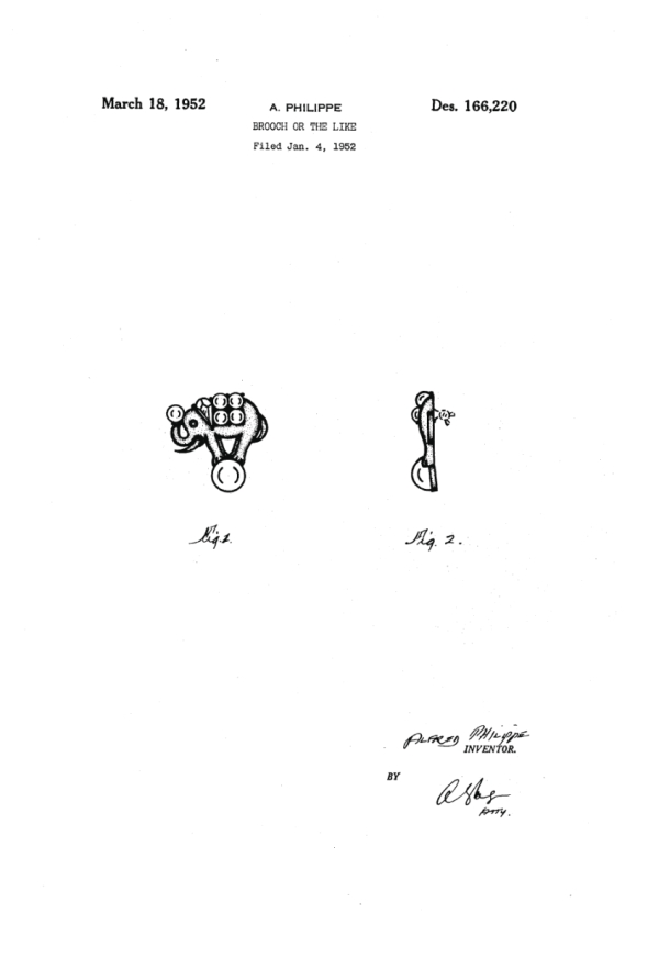 Trifari Patent Number 166220 At Myclassicjewelry Com