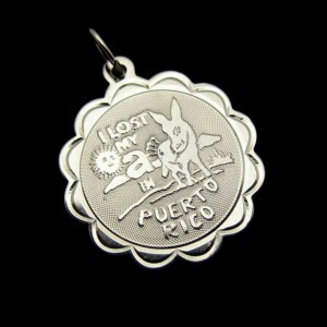 CREA Sterling Vintage Donkey Puerto Rico Charm Pendant Travel Souvenir Gift NOS