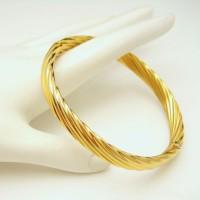 NAPIER Mid Century Gold Plated Swirls Vintage Bangle Bracelet Opens Nice Elegant Design