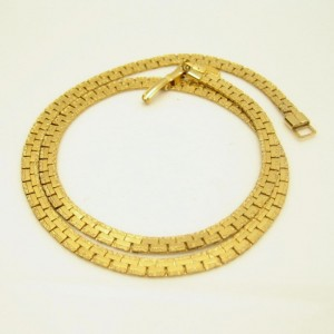 PARK LANE Vintage Necklace Mid Century Interlocking Chain Elegant Gold Plated Very Classy