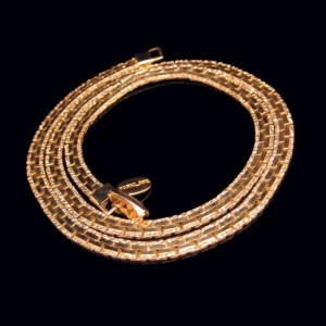 PARK LANE Vintage Necklace Mid Century Interlocking Chain Elegant Gold Plated Very Classy