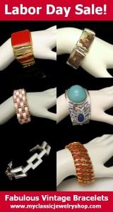 Click to view Beautiful Vintage Bracelets at www.myclassicjewelryshop.com