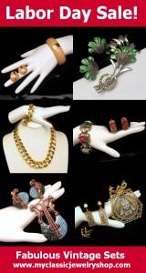 Beautiful Vintage Jewelry Sets for Sale at www.myclassicjewelryshop.com