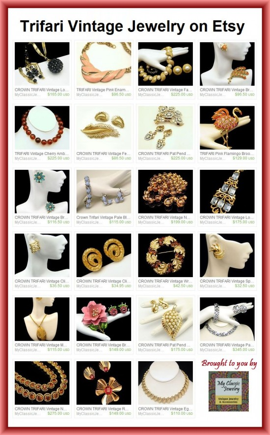 Trifari Vintage Jewelry at My Classic Jewelry on Etsy