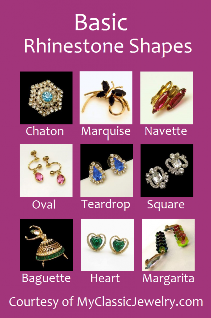 Vintage Rhinestones: Shapes and Types - My Classic Jewelry ...