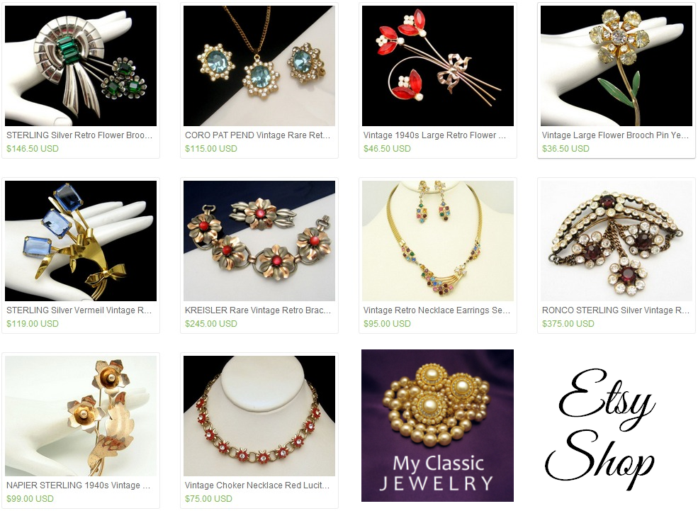 Retro Vintage Jewelry pieces