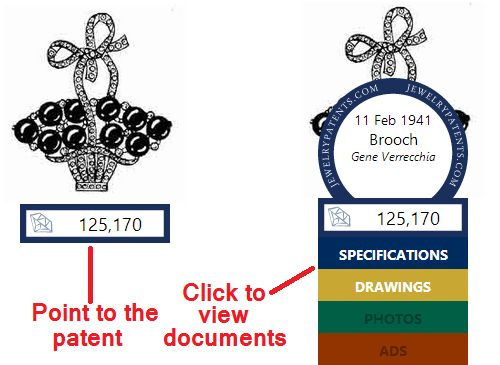 Viewing a Jewelry Patent on JewelryPatents.com