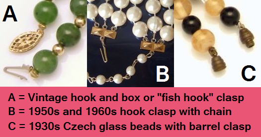 dating jewellery clasps Clasps are an important element in identifying haskell pieces early unsigned necklaces tend to have box clasps which were quite elaborate and decorated with pearls, beads or rhinestones, and either round, or oblong if the piece had multiple strands.