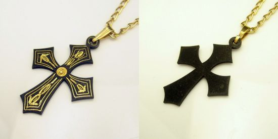 Genuine Damascene Jewelry Cross