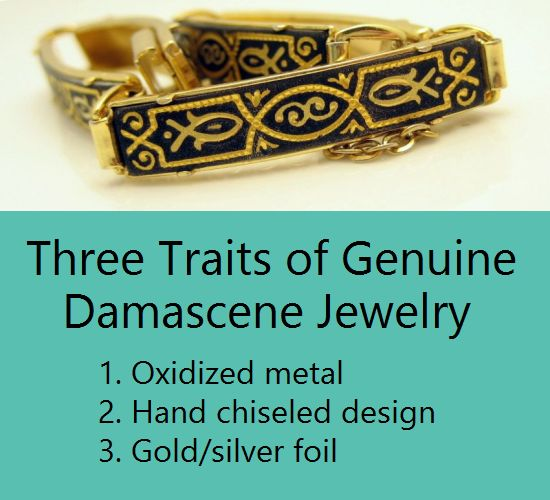 Vintage Genuine Damascene Jewelry Bracelet3Traits