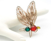 Coro Sterling Vermeil Moth Brooch