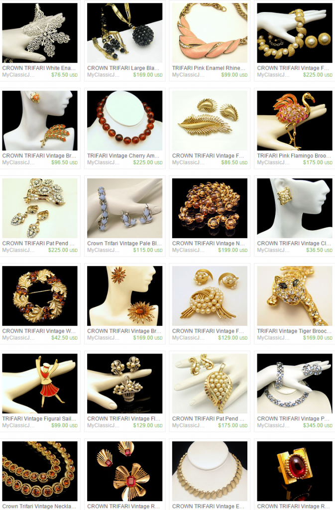 Trifari Vintage Jewelry for Sale at My Classic Jewelry Etsy Shop