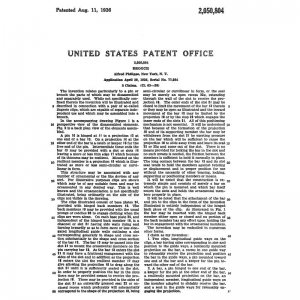 Trifari 1936 ClipMates Patent 2050804 Description