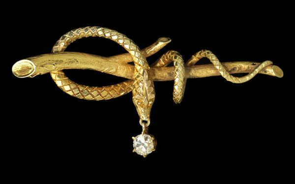 Madeleine Albright's Antique Snake Pin