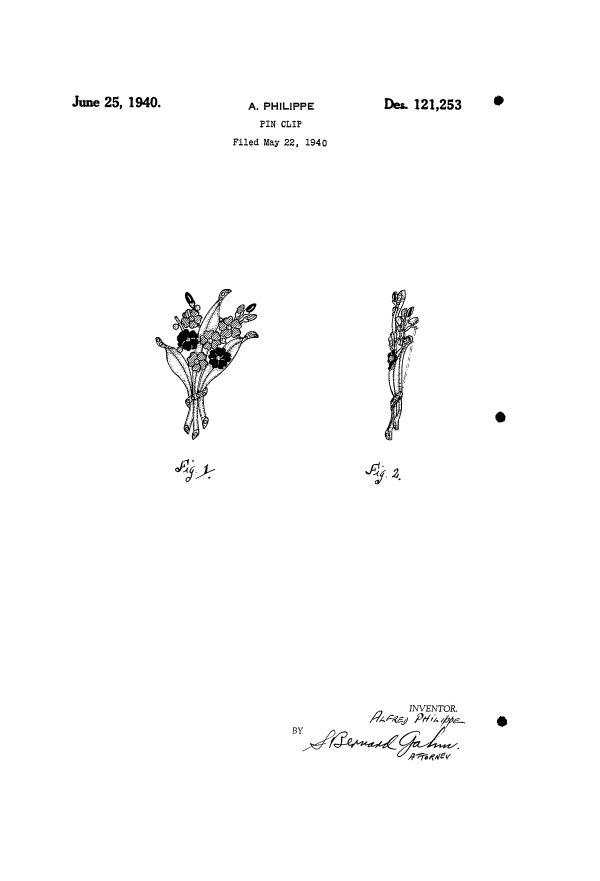 Trifari Patent Number 121253 At Myclassicjewelry Com