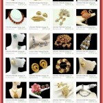 TRIFARI Vintage Necklace Pink Enamel Rhinestones Pendant