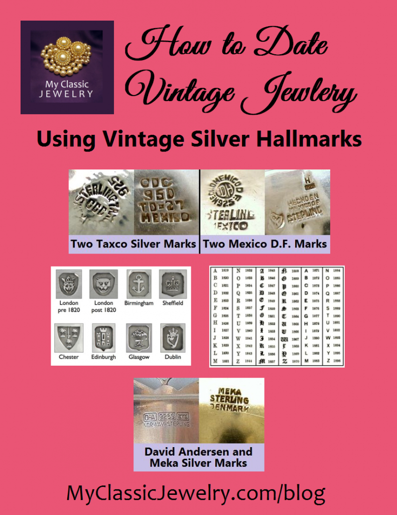 jewelry makers marks vintage jewelry markings 2869