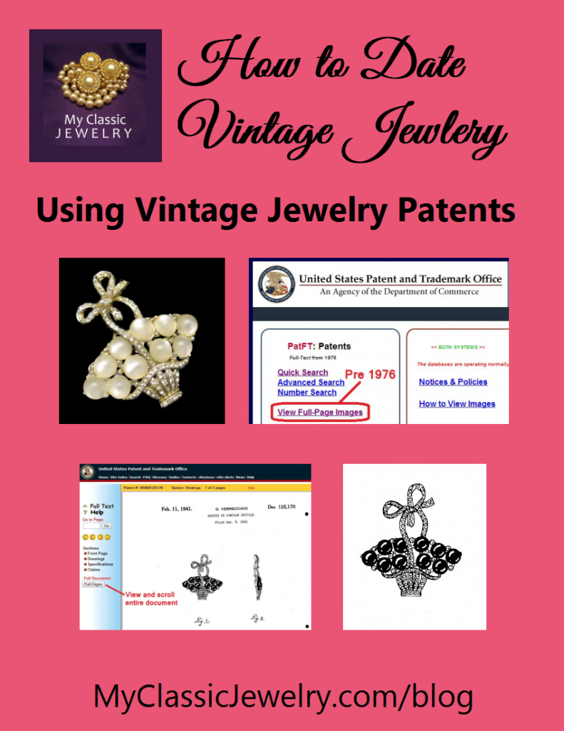 Vintage Jewelry Patents by My Classic Jewelry