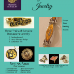 Vintage Damascene Jewelry: Three Traits Separate the Real from the Fake